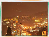 Night View of Darjeeling from Roof Top