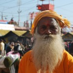 A devotee at Kumbh Mela, Haridwar